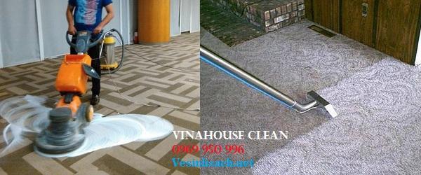 Giặt thảm trải sàn- Phương pháp gội thảm