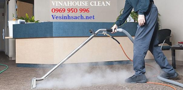 Giặt thảm văn phòng- Phương pháp carpet steam cleanning