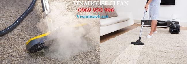 Giiặt thảm bằng hơi nước nóng